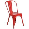 Isabella Modern Bistro Chair in Red