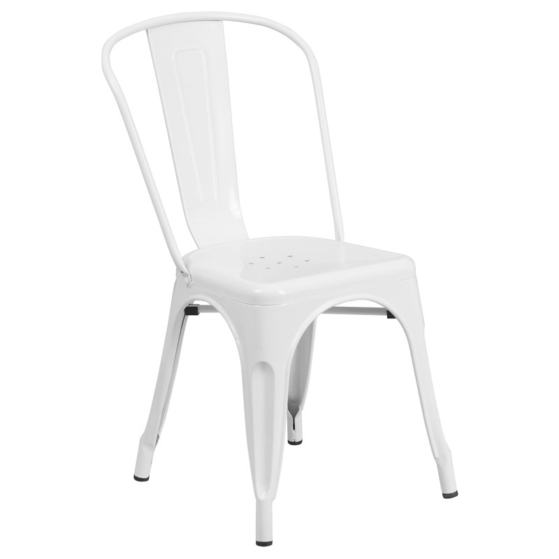 Isabella Modern Bistro Chair in White