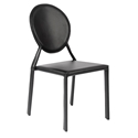 Isabella Modern Black Stacking Chair by Euro Style