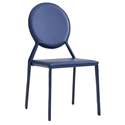 Isabella Modern Blue Stacking Chair by Euro Style
