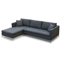 Istanbul Modern Left Facing Chaise Sectional Black Pepper