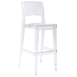 Isy-B Modern Transparent Bar Stool by Euro Style