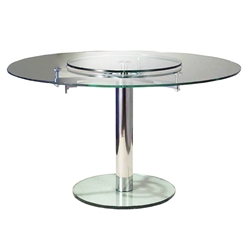 Italy Modern Clear Glass Dining Table