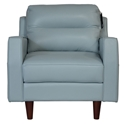 Ivy Modern Chair in Blue Leather