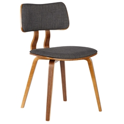 Jackson Charcoal Fabric + Walnut Dining Chair