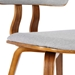 Jackson Gray Fabric + Walnut Side Chair - Backrest Detail