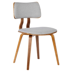 Jackson Gray Fabric + Walnut Dining Chair