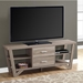 Jackson Modern Media Stand in Dark Taupe