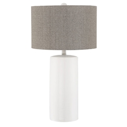 Jaco Modern White Ceramic Table Lamp