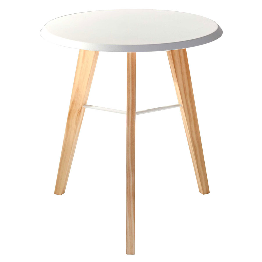 Jadon White Modern End Table