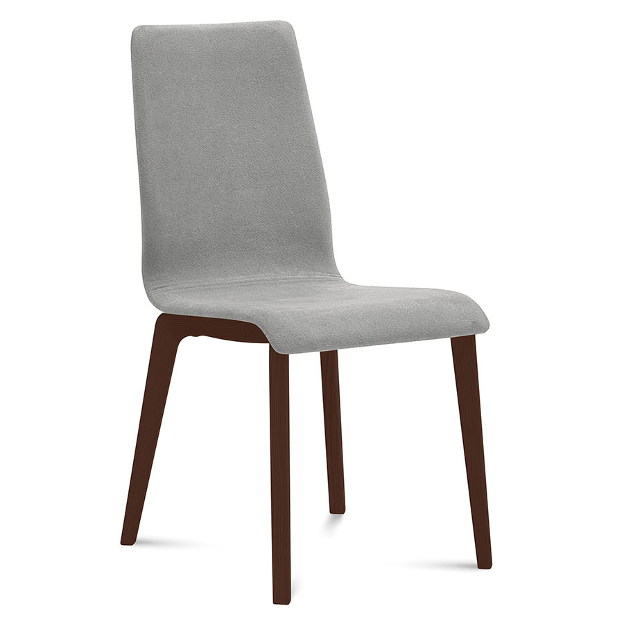 Jake Chocolate + Gray Modern Side Chair