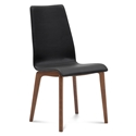 Jake Walnut + Black Modern Dining Chair