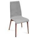 Jake Walnut + Gray Modern Dining Chair