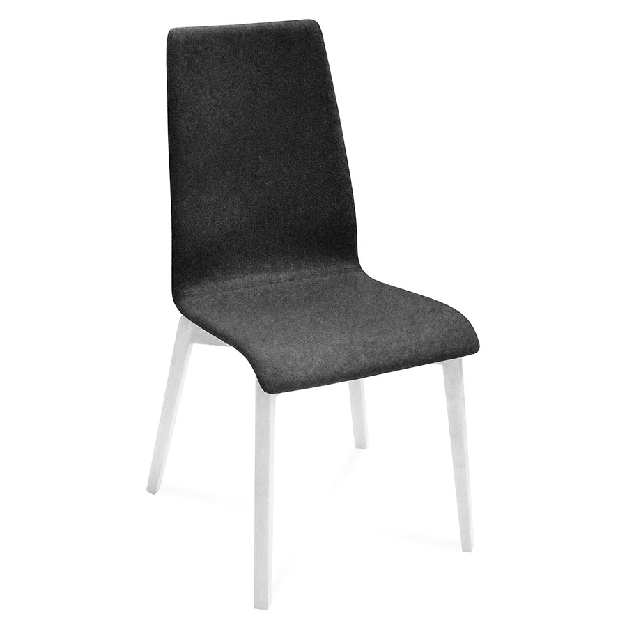 Jake White + Charcoal Modern Dining Chair