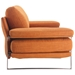 Jamal Orange Fabric Modern Sofa