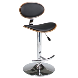 Jameson Modern Adjustable Bar Stool in Black