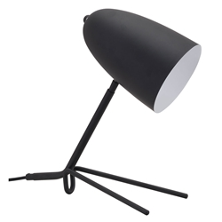 Jamison Black Steel Modern Table Lamp