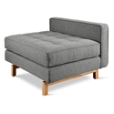 Gus* Modern Jane 2 Lounge with Parliament Stone Fabric and Natural Ash Wood Base