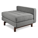 Gus* Modern Jane 2 Lounge with Parliament Stone Fabric and Walnut Stained Wood Base