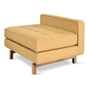 Gus* Modern Jane 2 Lounge with Stockholm Camel Fabric and Natural Ash Wood Base