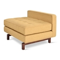 Gus* Modern Jane 2 Lounge with Stockholm Camel Fabric and Walnut Stained Wood Base