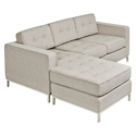 Jane Contemporary Loft Bi-Sectional Sofa in Leaside Driftwood by Gus* Modern