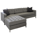 Jane Loft Bi-Sectional Sofa in Totem Storm Fabric