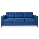Gus* Modern Jane Sofa in Stockholm Cobalt Fabric Upholstery with Walnut Wood base