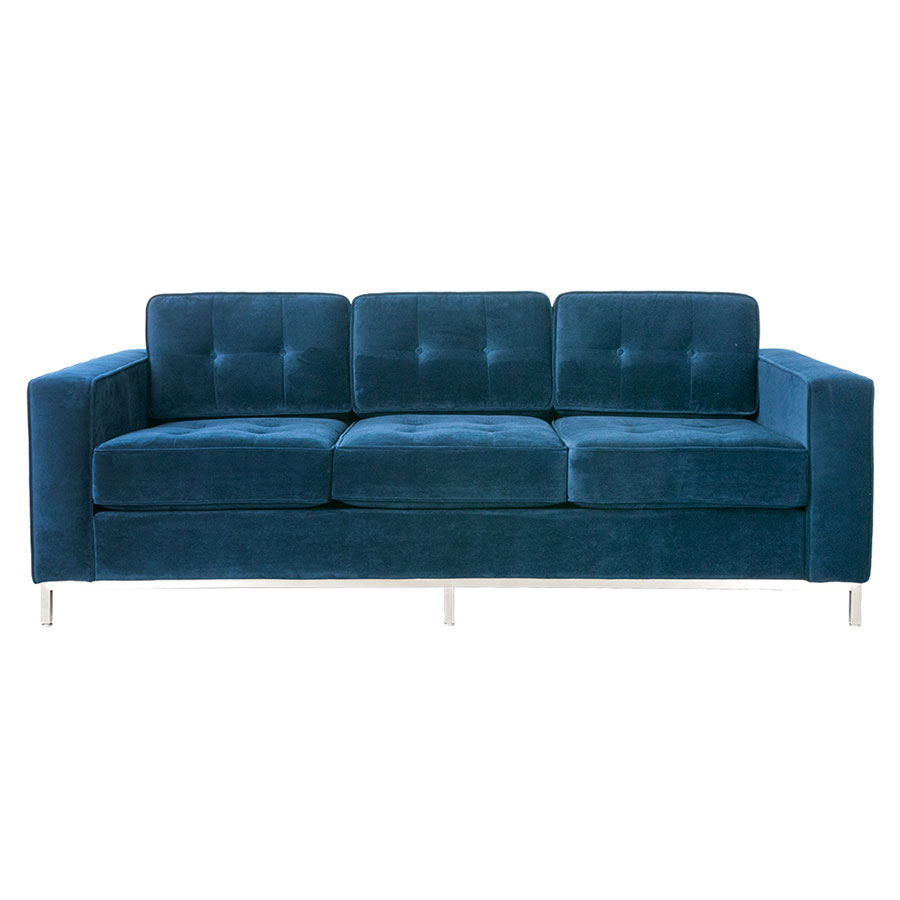Jane Contemporary Sofa in Velvet Midnight by Gus* Modern