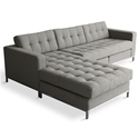 Jane Contemporary Bi-Sectional in Totem Storm by Gus* Modern