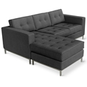 Jane Contemporary Loft Bi-Sectional in Urban Tweed Ink by Gus* Modern
