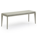 Jared Light Gray Modern Bench by Whiteline