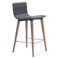 Jaron Gray Modern Counter Stool