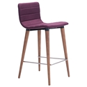 Jaron Purple Modern Counter Stool