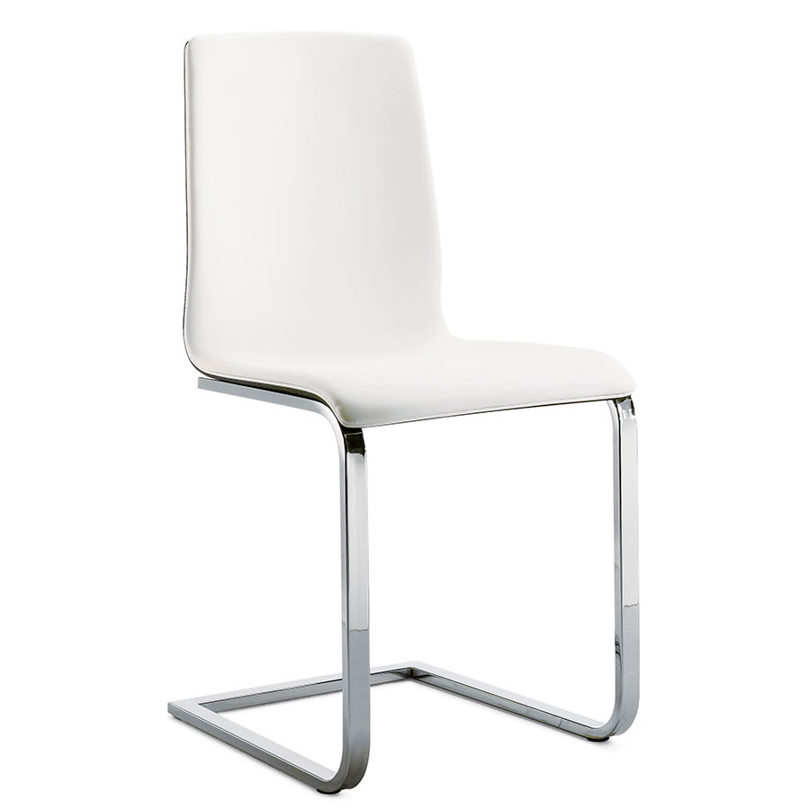 Call To Order · Jasmine Chrome + White + Walnut Modern Dining Chair