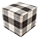 Jasper Cube Contemporary Ottoman in Tartan Shadow by Gus* Modern