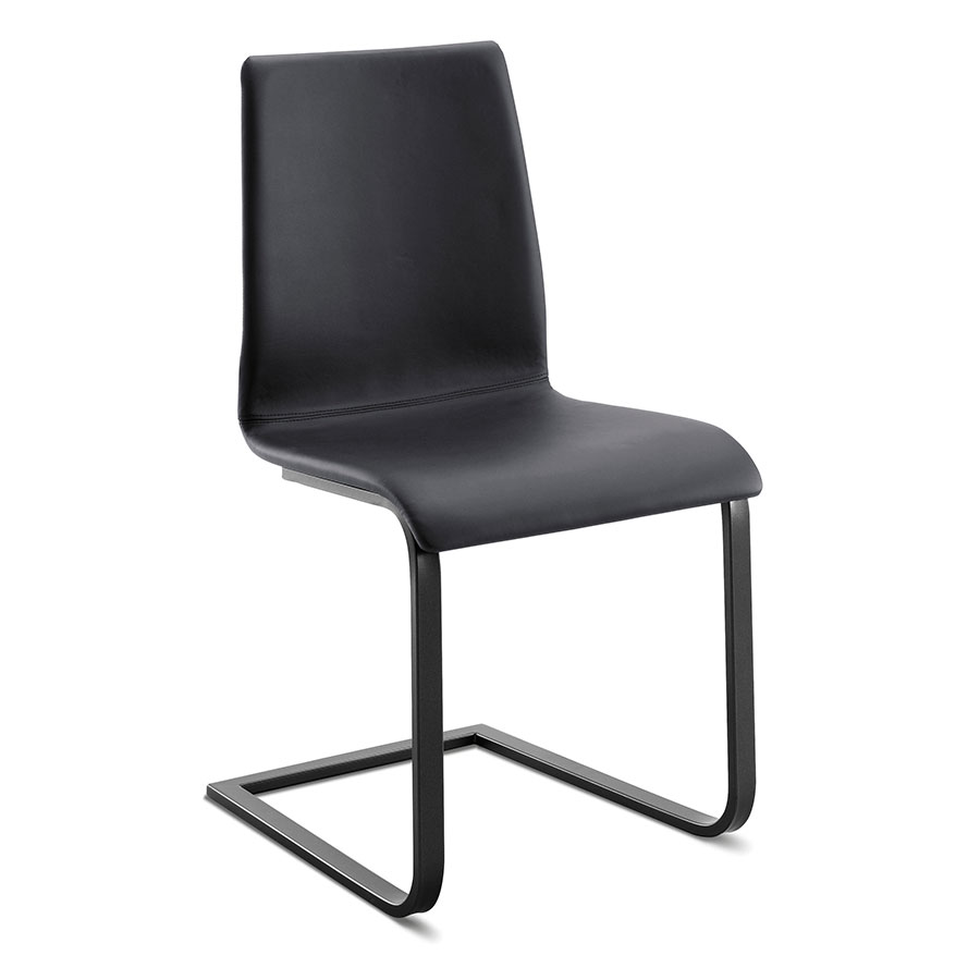Jean Anthracite + Black Modern Dining Chair by Domitalia