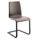Jean Anthracite + Taupe Modern Dining Chair by Domitalia