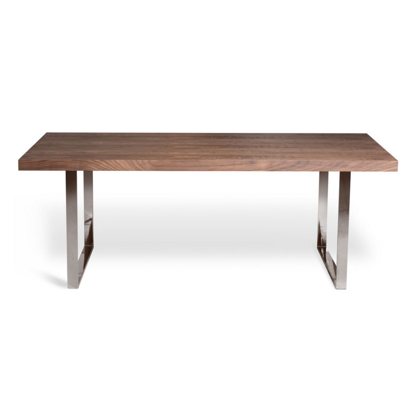Jennings 63 Inch Modern Walnut Dining Table