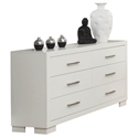 Jess Double Dresser in White