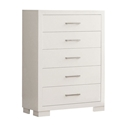 Jess Modern High Chest of Drawers in White
