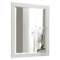 Jess Contemporary Wall Mirror in White
