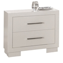 Jess Contemporary Nightstand in White