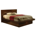 Jess Contemporary Platform Bed in Cappuccino