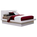 Jess Modern Platform Bed in White