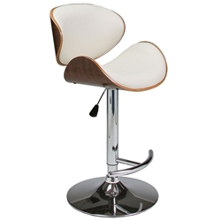 Jojo Modern Adjustable Stool in Ivory