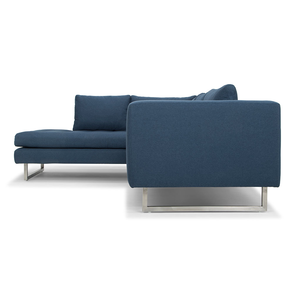 Joliet Left Facing Modern Lagoon Blue Sectional Sofa Eurway