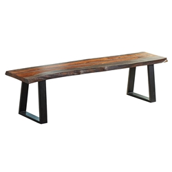 Jonah Rustic Contemporary Dining Bench
