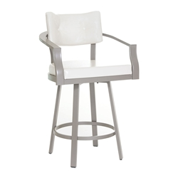 Jonas Modern Counter Stool by Amisco in Titanium