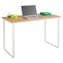 Laptop Desks - Jordan Modern Beech and White Desk